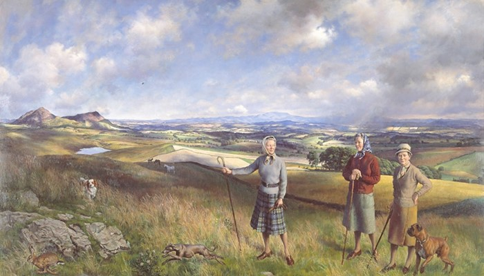 The three Robertson sisters on the moors